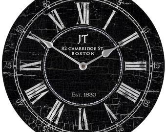 JT Bond St in Silver Wall Clock