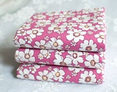 Fat Quarters ~ Funky Flower ~ Large Daisy Floral Print ~ Cotton ~ Dark Pink