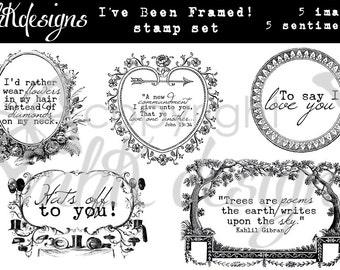 I've Been Framed! Digital Stamp Set