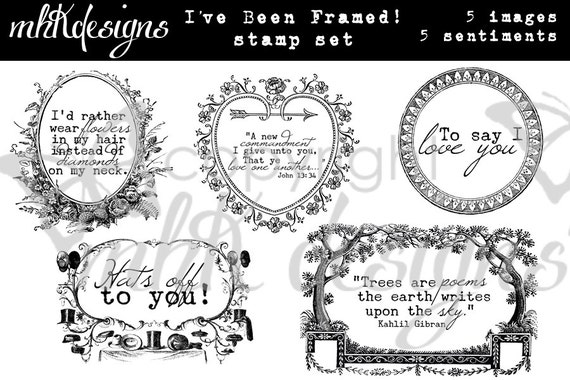 I've Been Framed! Digital Stamp Set