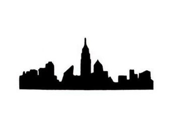 NYC Skyline decal