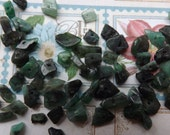 Emerald chips, chip beads, small chips, green beads , emerald beads