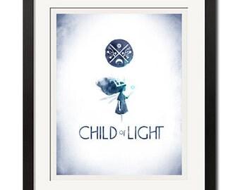 Child Of Light Gaming Art Poster Print 0748