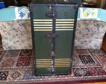 Vintage Adastra Steamer Wardrobe Travel Trunk