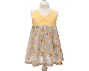 Romantic Summer dress for little girls - 3 -> 8 years - wrap dress - PRAGA