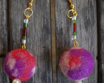 classic felted wool earrings Feltro