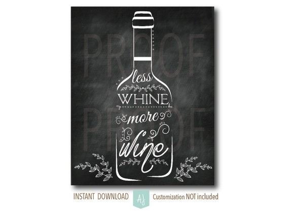 Items similar to chalkboard art for wine lovers instant for Wine chalkboard art