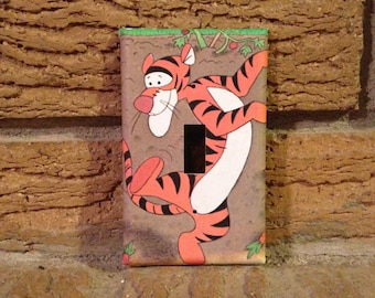 Winnie the Pooh Tigger Light Switch Plate Cover, Winnie the Pooh Decor, Winnie the Pooh Nursery, Tigger Decor, Tigger Nursery, WTP23