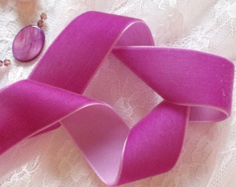 3 Yards Velvet Ribbon in Ultra Violet (1 inch) Y-079