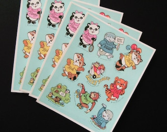 Vintage SHIRT TALES Stickers Sheets