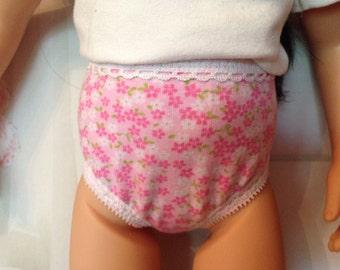 """Pink flowered undies panties underwear for 20"""" Effner Maru doll"""