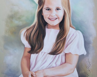 Pastel portrait of a girl