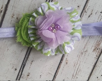 Lavender and lime Headband