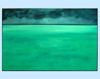 "landscape painting,acrylic painting, seacape art,wall art by M.Schöneberg ""Lagoon""24x16x0,75"
