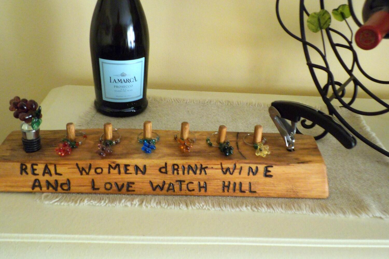 made oak log wine charm holder wine charms wine stopper