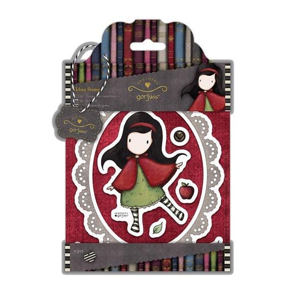 Simply Gorjuss Little Red Santoros Cling Stamp
