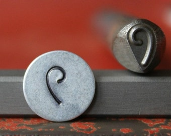 Right Swirl Design Stamp - Perfect for Metal Stamping and Jewelry Design Metal Work - SG375-40