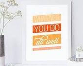 Bible Verse Art - Ecclesiastes 9:10 - Scripture Art  - Motivational Print - Typographic Print - Encouraging Wall Quote