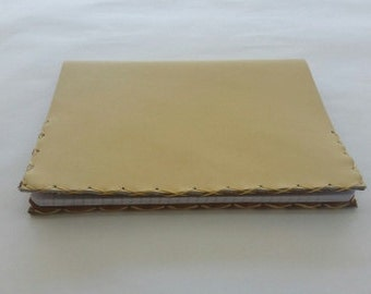 Leather Composition Book Cover, Composition Book Cover, Buck Tan Composition Book Cover,