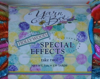 3 skeins of yarn bee special effects hollywood yarn