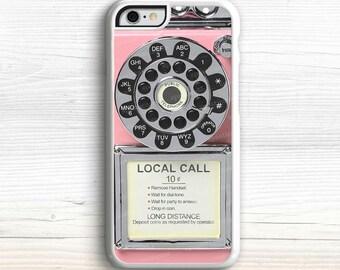 iPhone 6S Case, Vintage Phone Case, Vintage Payphone iPhone 6 Case, iPhone SE Case, Payphone iPhone 5S Case, Retro iPhone 6 Plus, iPhone 5C