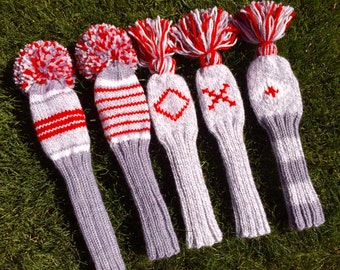 Knit Golf Club Covers handmade in your colors and style.