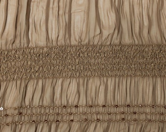 Brown Chiffon Stretch Sequin Fabric