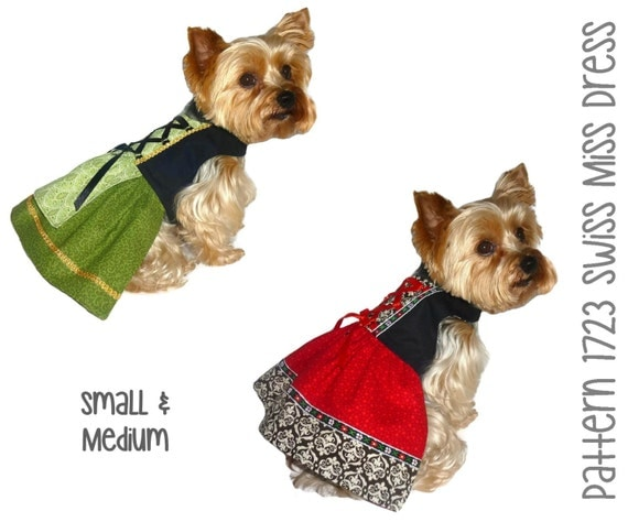 swiss miss dog dress pattern 1723 small amp by sofiandfriends
