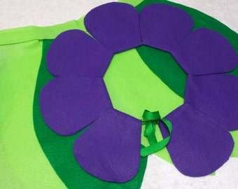 Small Purple Flower Costume Set