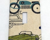 Cars and Trucks Light Switch Plate Cover / Outlet Cover / Home Decor / Baby Shower Gift / Nursery Decor / Kid's Room / Boy's Room / Vintage