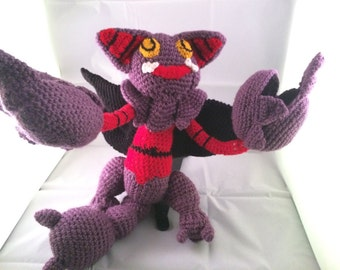 "Gliscor from ""Pokemon"" Hand Made Crochet Plush Toy"
