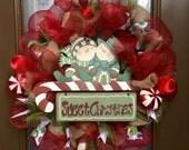 Sweet Christmas deco mesh wreath