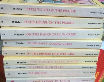 Nine Little House on the Prairie paperback series from the 70s