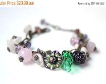ON SALE Rose Quartz Raw Rose Quartz Bracelets Rose Quartz Jewelry Glass and Stones Rose Quartz Gifts for Women Mineral Gemstone Pink Beads C