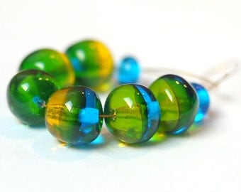 Beads for Jewelry Glass Lampwork Beads Set Craft Supplies Jewelry Making