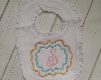 Personalized name baby bib burp cloth shower gift