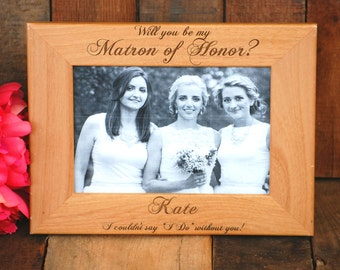 10 Personalized Bridesmaid Gifts Will You Be My Bridesmaid Frame Bridesmaid Thank You Gift Bridesmaid Proposal Maid of Honor Flower Girl