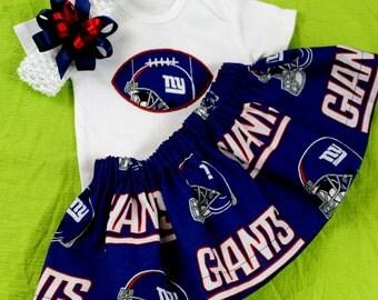 New York Giants 3pc Girls Bodysuit set