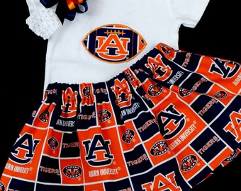 Auburn University  girl's 3pc bodysuit set