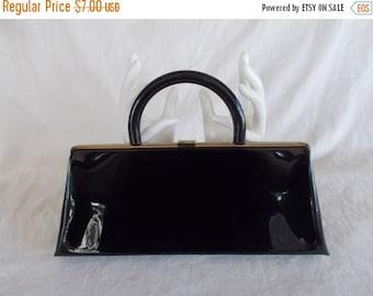 Vintage Shiny Black Purse