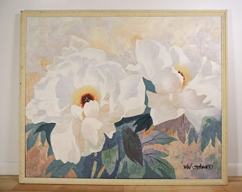 """Original Large Impressionist Floral Painting on canvas Wall Art by Van Stafford 50"""" x 42"""""""