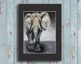 Elephant Painting, Elephant gift, elephant art, african art, elephant gift, elephant gifts, elephants painting,  elephant gift ides