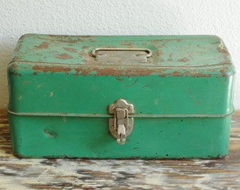 Liberty Steel Chest Corp. Green Metal Tackle / Tool Box | Rochester, NY Made in USA