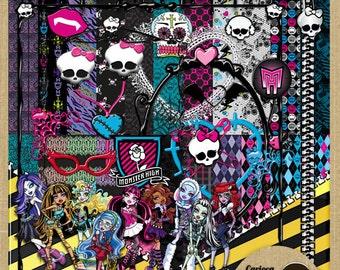 Monster High Mega Digital Scrapbook Kit
