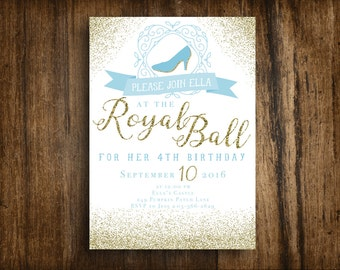 Cinderella Royal Ball, Printable Birthday Invitation