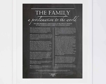 The Family, A Proclamation to the World, Chalkboard Digital Printable