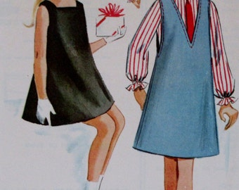 Vintage 1964  McCalls Girls  Jumper, Blouse, Shift Dress  Sewing Pattern 7404  Size 6 **Epsteam