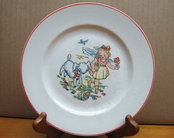 mary little lamb vintage china plate childs pollack new kensington pa