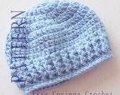 Easy Baby Hat Crochet PATTERN, Baby Boyl Hats PATTERN