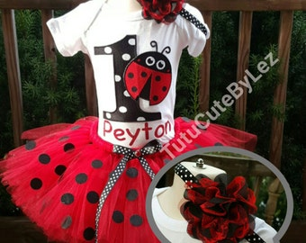 Lady Bug Tutu Set